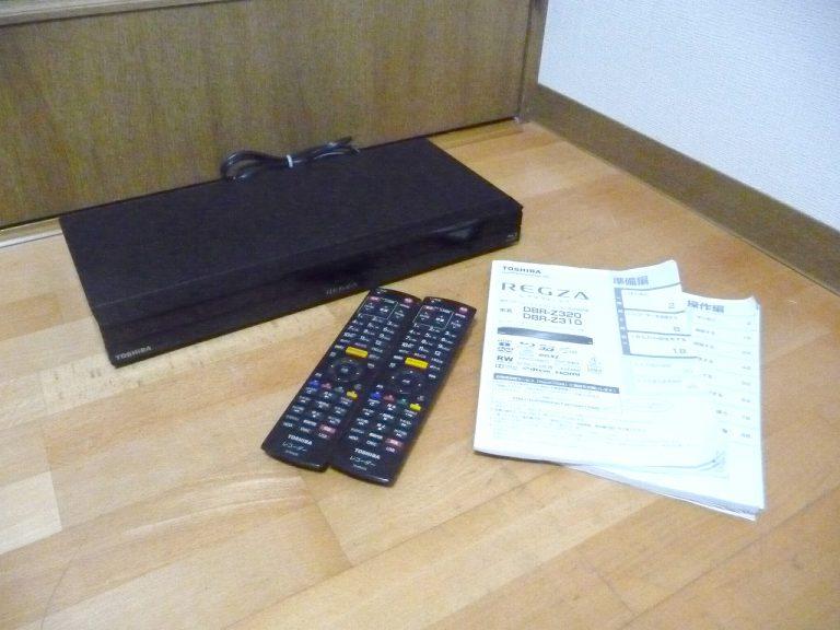 ブルーレイレコーダー TOSHIBA REGZA DBR-Z310 東芝 レグザ 2番組同時録画 リモコン SE-R0428 B-CAS 説明書 付属