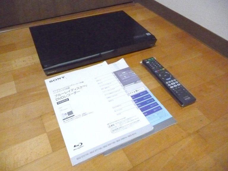 ブルーレイレコーダー SONY BDZ-ET1100 ソニー HDD 1TB 3番組同時録画 CREAS 5 リモコン RMT-B015N B-CAS 付属 プレーヤー