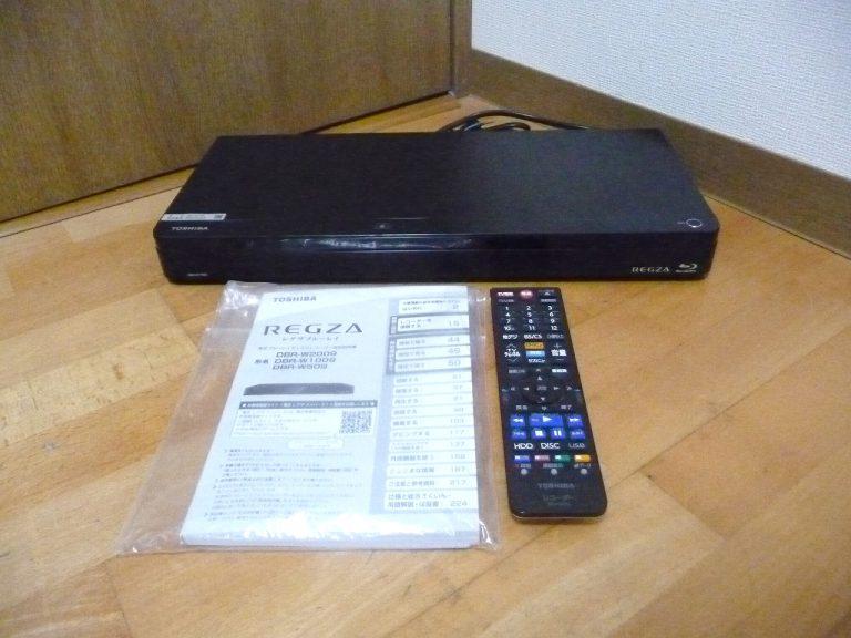 ブルーレイレコーダー TOSHIBA REGZA DBR-W1009 東芝 レグザ プレーヤー 1TB 2番組 スマホdeレグザ 2019年