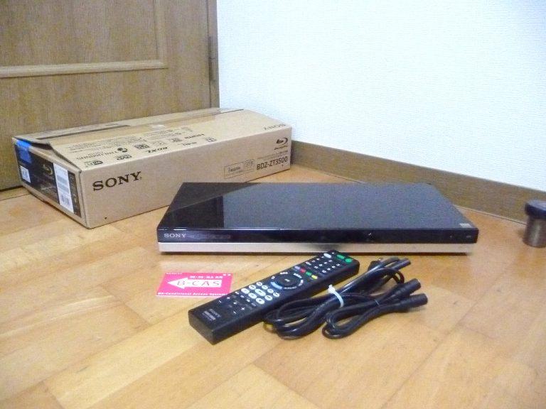 ブルーレイレコーダー SONY BDZ-ZT3500 ソニー 3番組同時録画 4Kカメラ動画 3TB 無線LAN内蔵 B-CAS RMT-VR110J