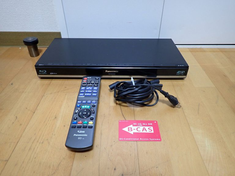ブルーレイレコーダー Panasonic DIGA DMR-BZT600 パナソニック ディーガ 500GB B-CAS リモコン N2QAYB000648 プレーヤー
