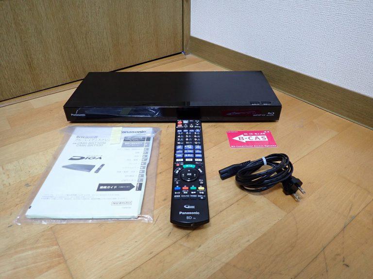 ブルーレイレコーダー Panasonic DIGA DMR-BRT1030 パナソニック おうちクラウドディーガ 1TB B-CAS リモコン N2QAYB001172