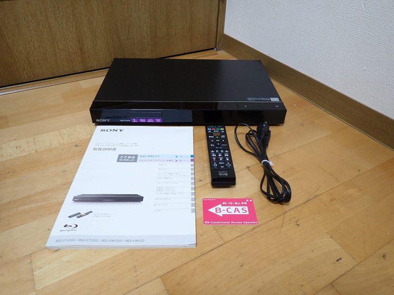 ブルーレイレコーダー SONY BDZ-ET2200 ソニー スマホ 録画番組 ストリーミング 視聴 BDレコーダー 2TB リモコン RMT-B015J