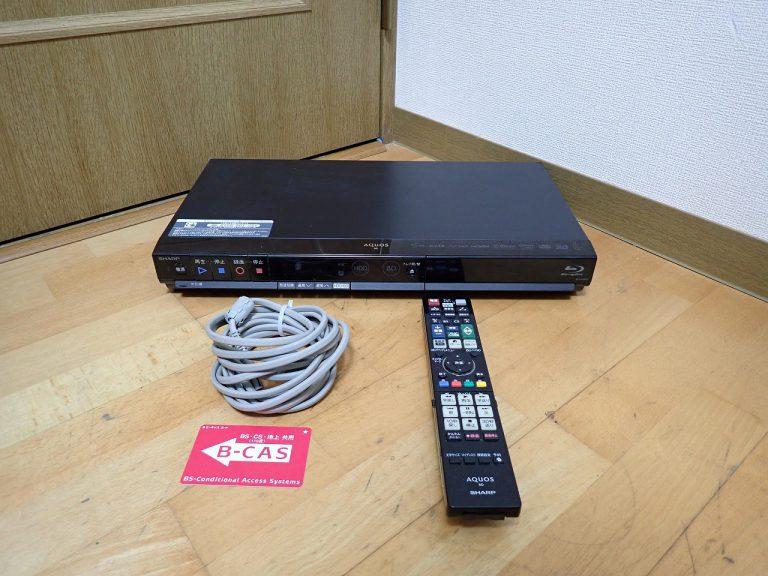 ブルーレイレコーダー SHARP AQUOS BD-HW51 シャープ アクオス プレーヤー HDD 500GB B-CAS リモコン GB027PA ジャンク