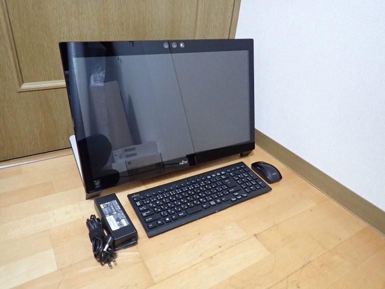 一体型パソコン FUJITSU ESPRIMO FMVW77SB Win8 Core i7 4712MQ メモリ 8GB HDD 2TB 23インチ タッチパネル ブルーレイ 富士通